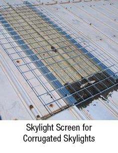 Skylight Screen for Corrugated Skylights