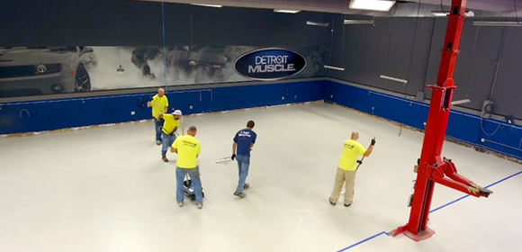 Detroit Muscle's Floors Shine with Help from QuestMark