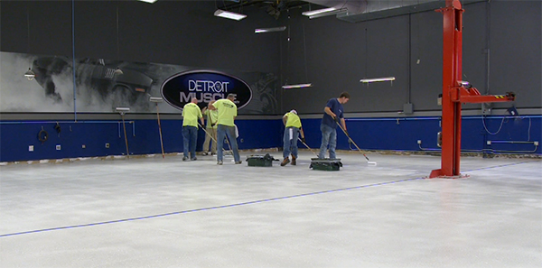 RTM Names QuestMark The Official Floor Coating Company For Detroit Muscle