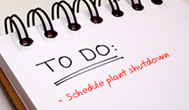 Schedule Plant Shutdown for Commercial Flooring Maintenance