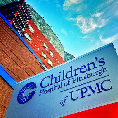 Children's Hospital of Pittsburgh of UPMC Sign