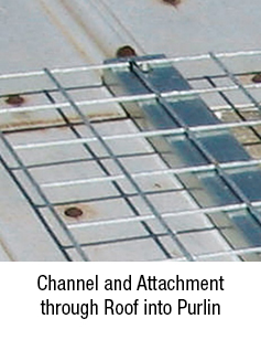 Channel and Attachment Thru Roof into Purlin