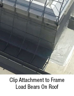 Clip Attachment to Frame Load Bears On Roof
