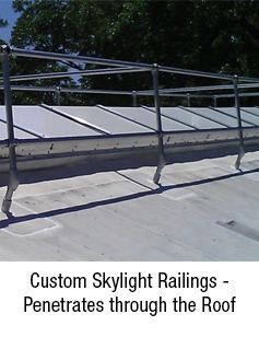 Custom Skylight Railings Penetrates through the Roof