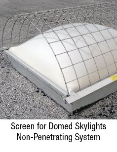 Skylight Screen for Domed Skylights Non Penetrating System