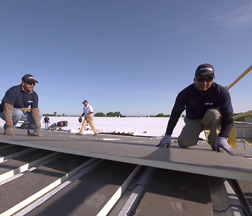 CentiMark Roofers Hard at Work