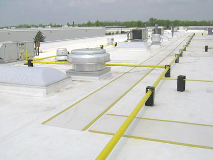 Roof with Safety Features in Place