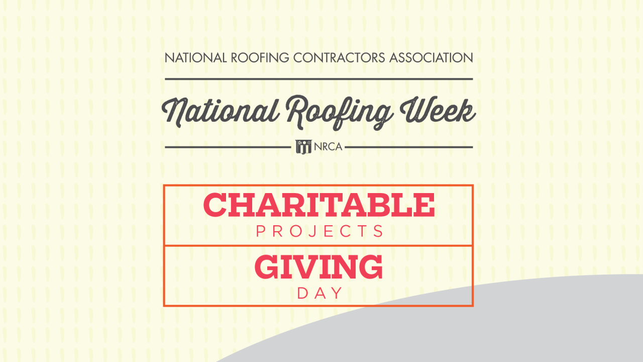 National Roofing Week - Giving Day/Charitable Projects - CentiMark's Food Bank Donations